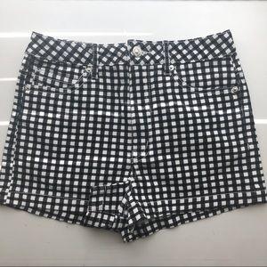 Forever 21 Gingham Denim Shorts